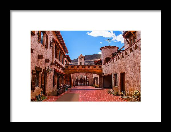 Grapevine Canyon Framed Print featuring the photograph Scotty's Castle Courtyard by Robert Bales