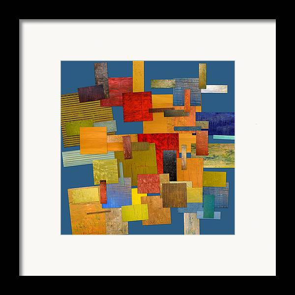 Textural Framed Print featuring the painting Scrambled Eggs Lv by Michelle Calkins