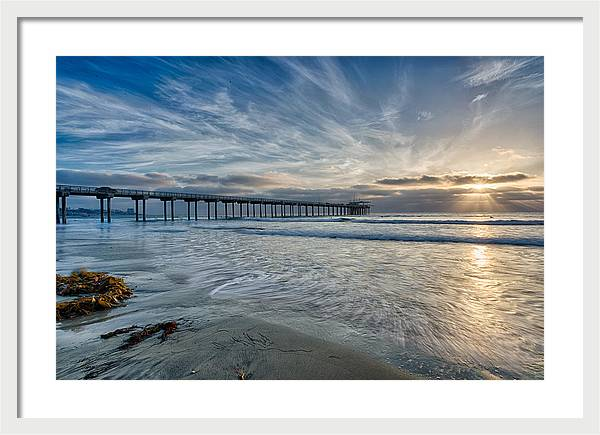 Scripps Pier Sky and Motion by Peter Tellone