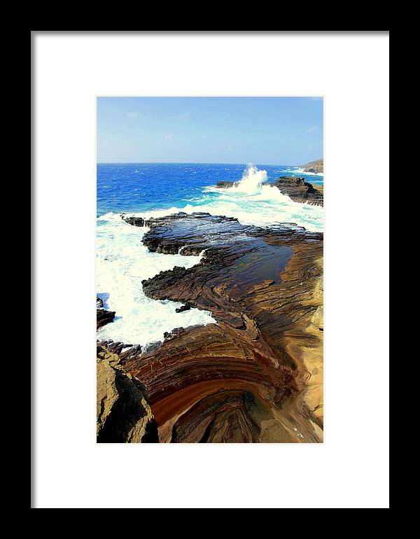 Hawaii Framed Print featuring the photograph Sculpted Coastline by S Matthew Wehe