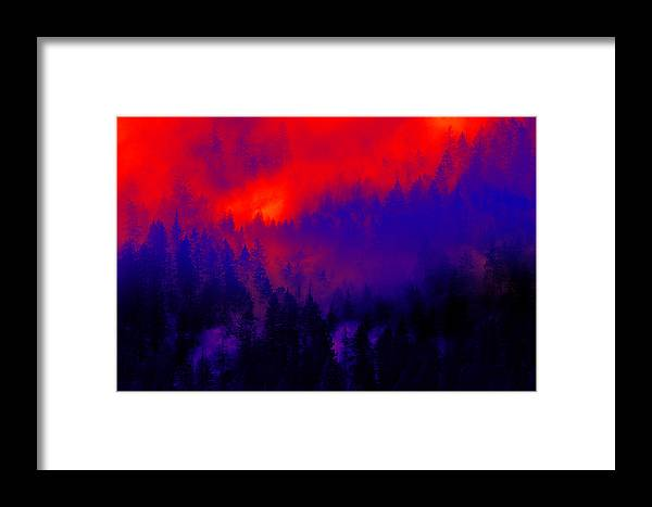 Purple Framed Print featuring the photograph 'scuse Me While I Kiss The Sky by John Poon