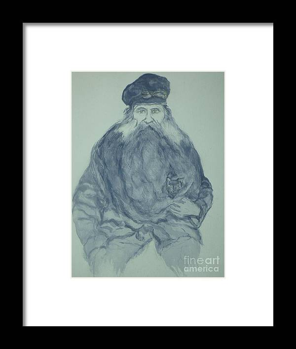 Sea Captain Framed Print featuring the painting Sea Captain by Nancy Caccioppo