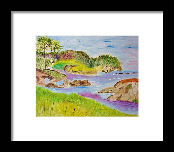 Seascape Framed Print featuring the painting Sea Escape by Meryl Goudey