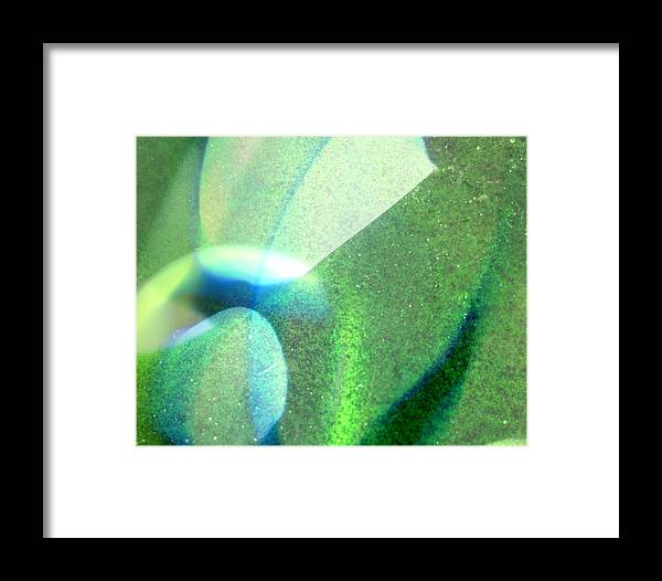 Green Framed Print featuring the photograph Sea Glass by Suzi Freeman