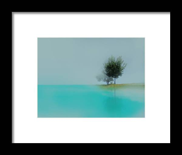 Water Framed Print featuring the photograph sea by Ljubinka Lepojevic