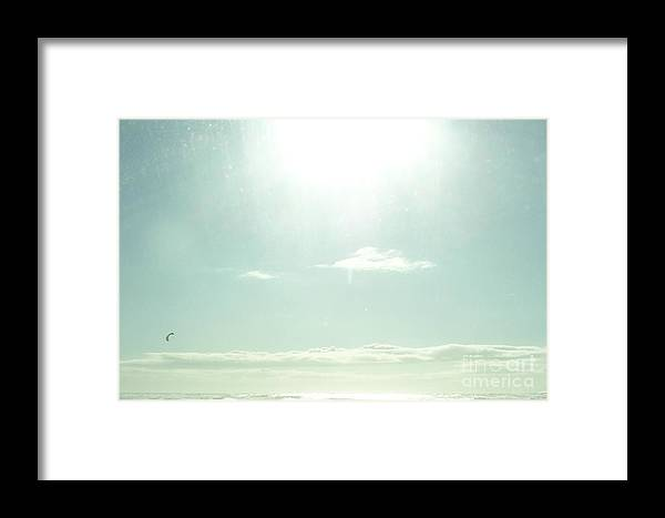 Sea Framed Print featuring the photograph Sea Meets The Sky by Nancy Worrell