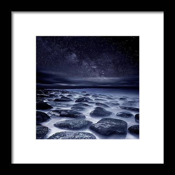 Night Framed Print featuring the photograph Sea of Tranquility by Jorge Maia