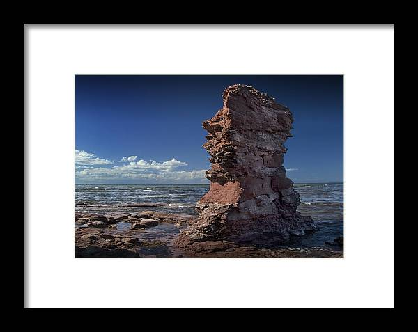 Art Framed Print featuring the photograph Sea Stack At North Cape On Prince Edward Island by Randall Nyhof