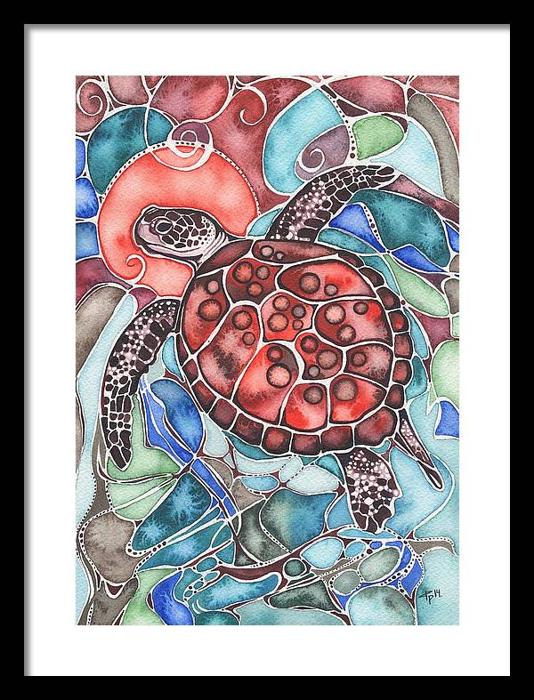 Sea Turtle Framed Print By Tamara Phillips