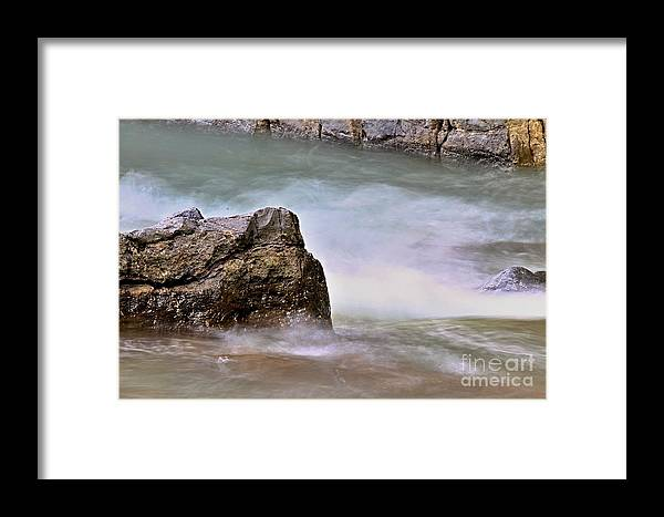 Action Framed Print featuring the photograph Sea Wave 3 by Zuzana Tenhue