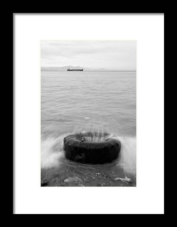 Jezcself Framed Print featuring the photograph Sea Wave by Jez C Self