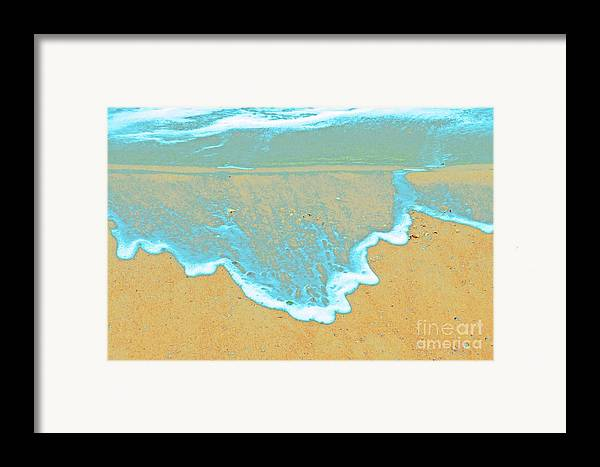 Water Protographs Framed Print featuring the photograph Seafoam Abstract by Cindy Lee Longhini