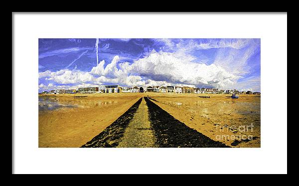 Southend On Sea Framed Print featuring the photograph Seafront at Southend on Sea by Sheila Smart Fine Art Photography
