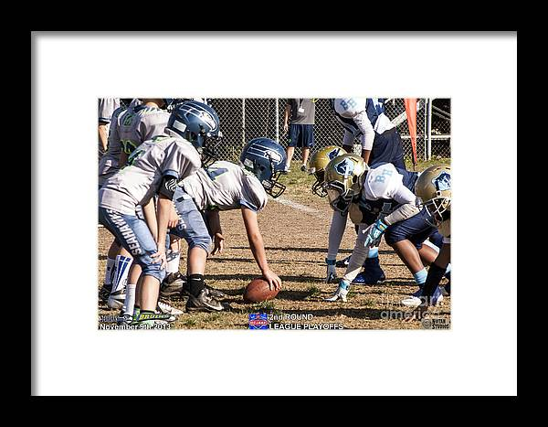 Framed Print featuring the photograph Seahawks Vs Bruins 7987 by Notah Studios
