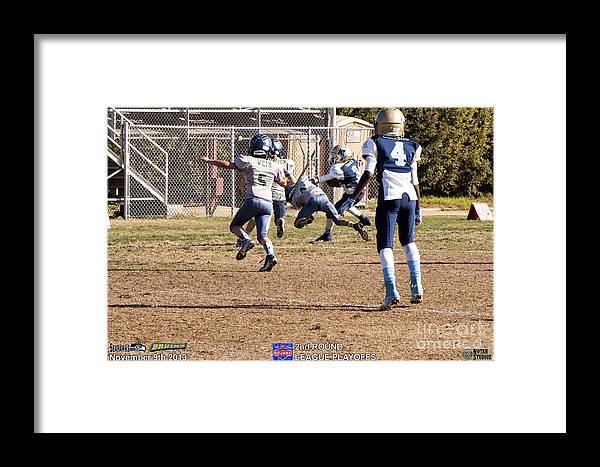 Framed Print featuring the photograph Seahawks Vs Bruins 8080 by Notah Studios
