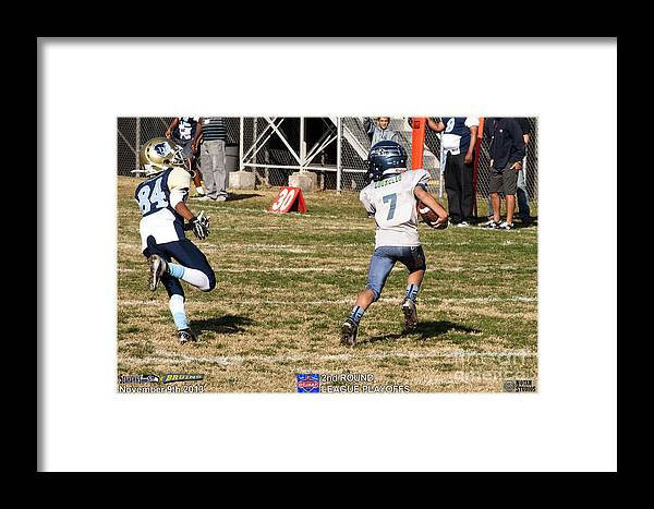 Framed Print featuring the photograph Seahawks Vs Bruins 8143 by Notah Studios