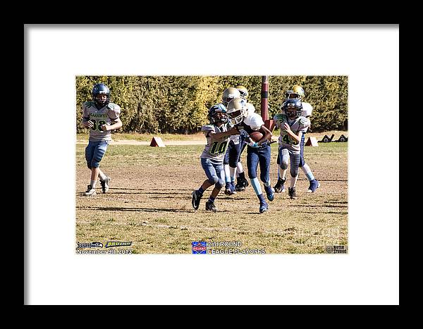 Framed Print featuring the photograph Seahawks Vs Bruins 8315 by Notah Studios