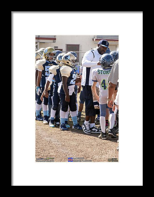 Framed Print featuring the photograph Seahawks Vs Bruins 8394 by Notah Studios