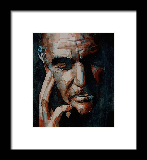 Sean Connery Framed Print featuring the painting Sean Connery by Paul Lovering