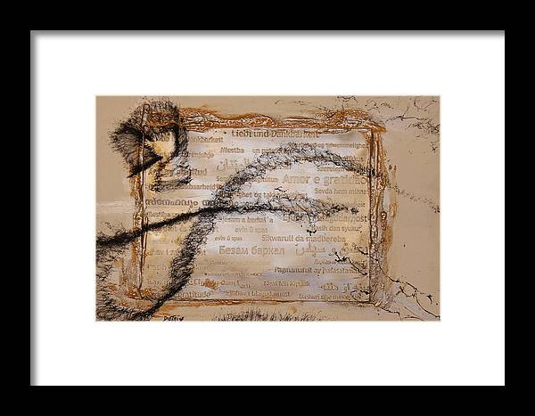 Light Framed Print featuring the painting Searching For The Flight by Neo Dietrich