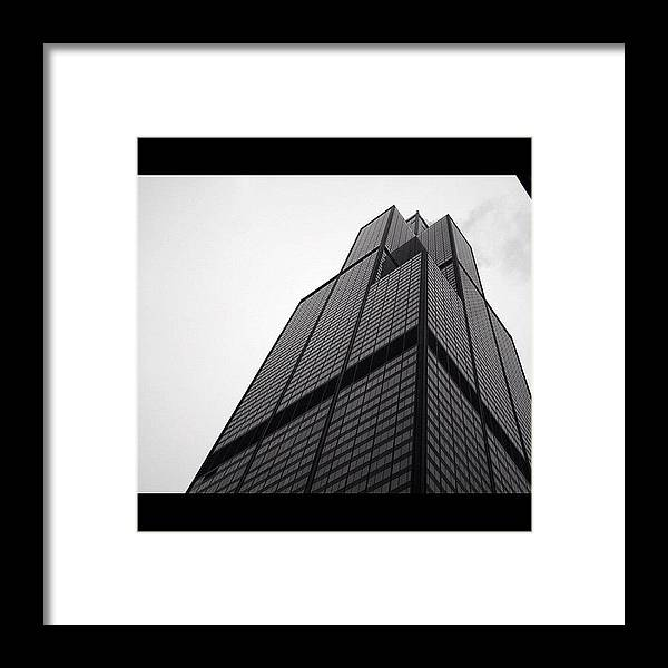 City Framed Print featuring the photograph Sears Tower by Mike Maher