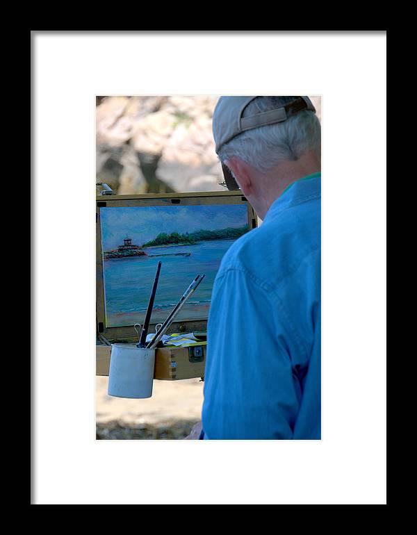 Artist Framed Print featuring the photograph Seaside Artist by Caroline Stella
