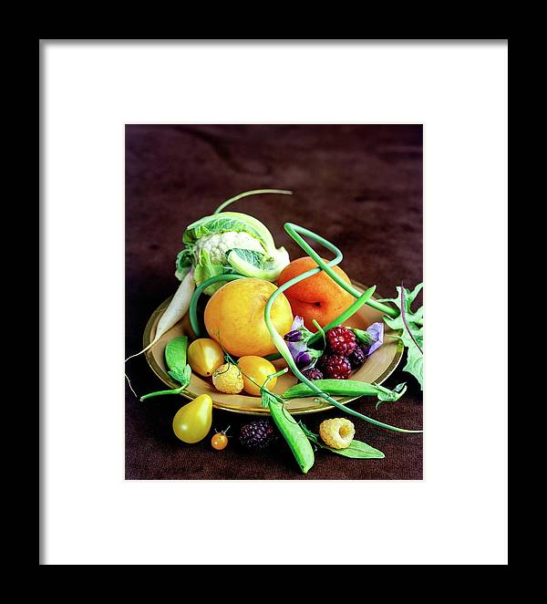 Fruits Framed Print featuring the photograph Seasonal Fruit And Vegetables by Romulo Yanes