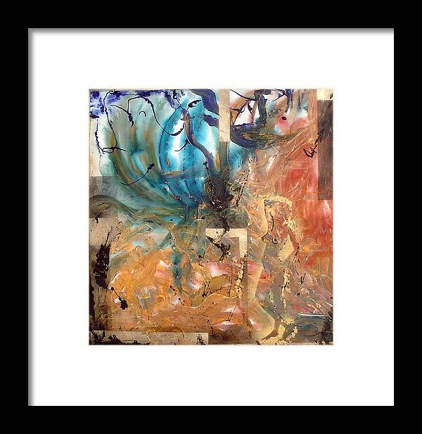Abstract Framed Print featuring the painting Seasons Of Change by Lorena Fernandez