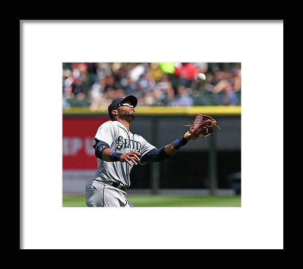 American League Baseball Framed Print featuring the photograph Seattle Mariners V Chicago White Sox by Jonathan Daniel
