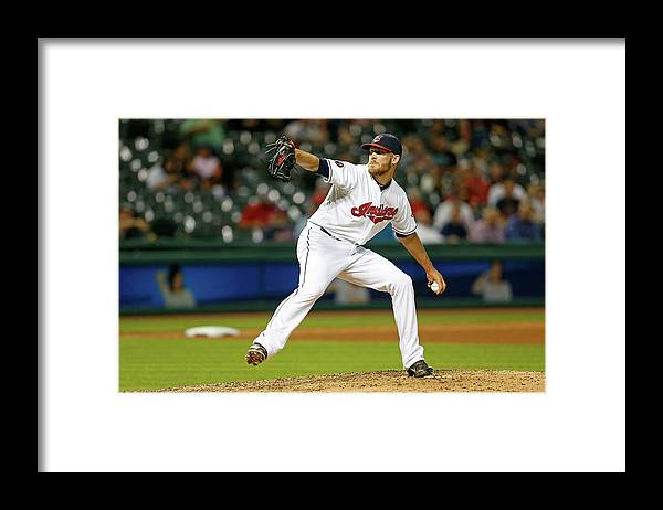 American League Baseball Framed Print featuring the photograph Seattle Mariners V Cleveland Indians by Kirk Irwin