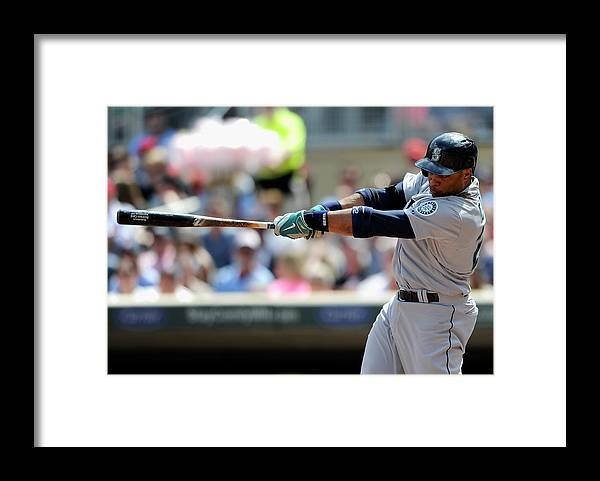 American League Baseball Framed Print featuring the photograph Seattle Mariners V Minnesota Twins by Hannah Foslien
