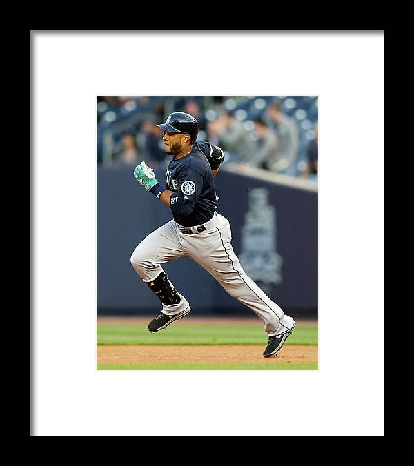 American League Baseball Framed Print featuring the photograph Seattle Mariners V New York Yankees by Elsa