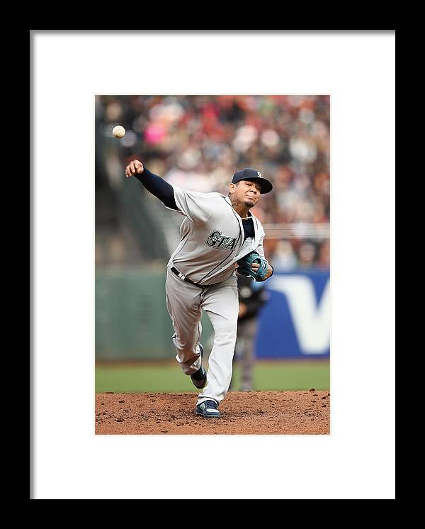 San Francisco Framed Print featuring the photograph Seattle Mariners v San Francisco Giants by Ezra Shaw