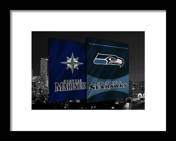 Seahawks Framed Print featuring the photograph Seattle Sports Teams by Joe Hamilton