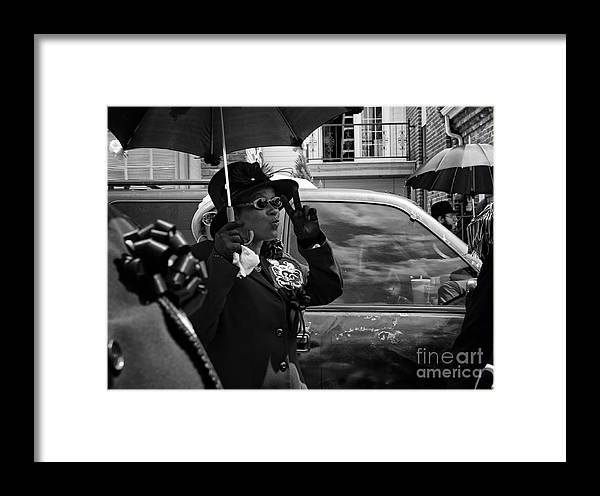 Peace Framed Print featuring the photograph Second Line Peace by Mary Smyth
