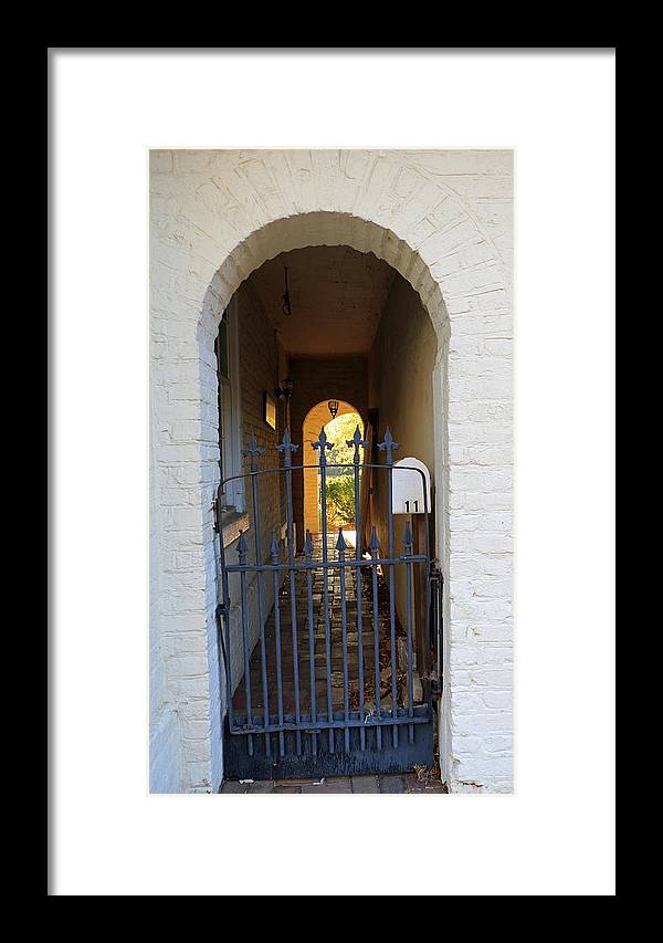 Courtyard Framed Print featuring the photograph Secret Courtyard by Mary Haber