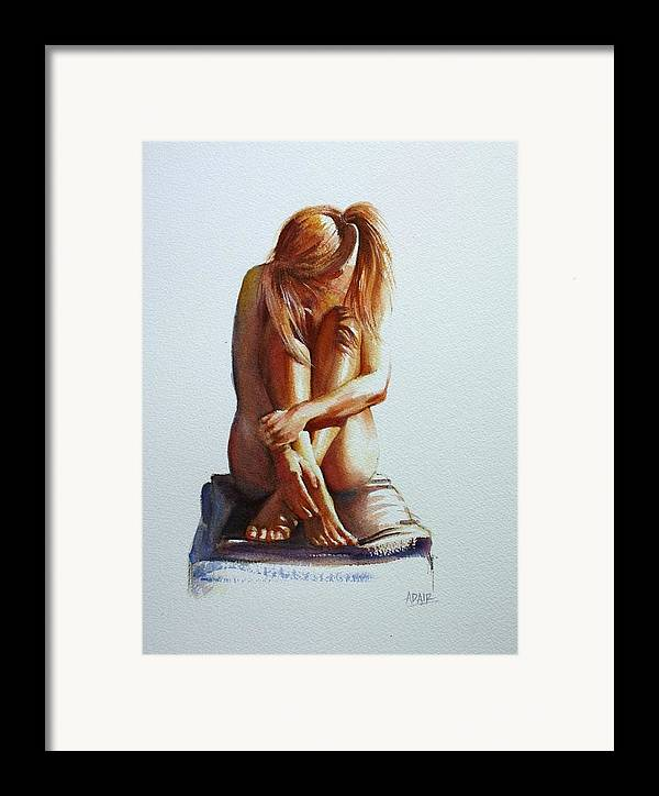 Female Nude Framed Print featuring the painting Secret Life by Pauline Adair