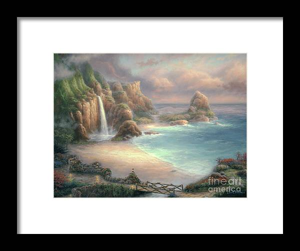 Tropical Framed Print featuring the painting Secret Place by Chuck Pinson