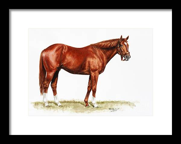 Secretariat Framed Print featuring the painting Secretariat Study by Thomas Allen Pauly