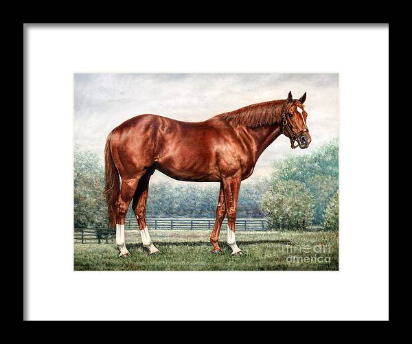 Secretariat Framed Print featuring the painting Secretariat by Thomas Allen Pauly