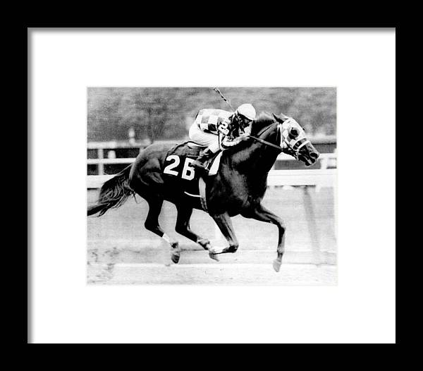 Classic Framed Print featuring the photograph Secretariat Vintage Horse Racing #12 by Retro Images Archive