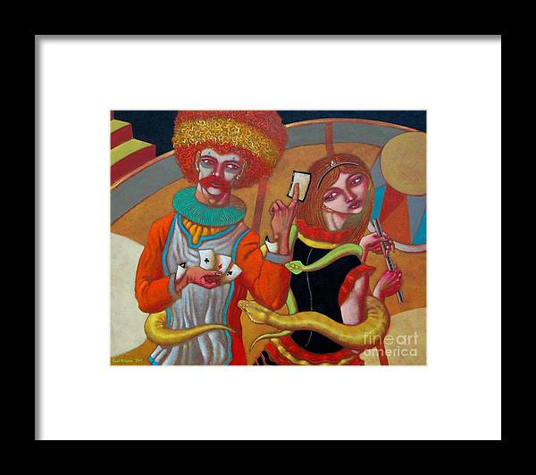 Paul Hilario Framed Print featuring the painting Sed And Des by Paul Hilario