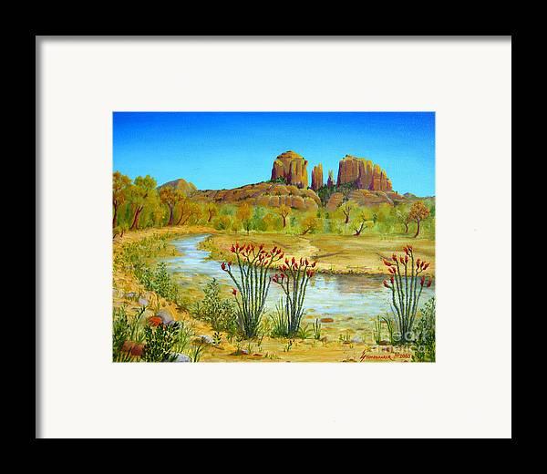 Sedona Framed Print featuring the painting Sedona Arizona by Jerome Stumphauzer