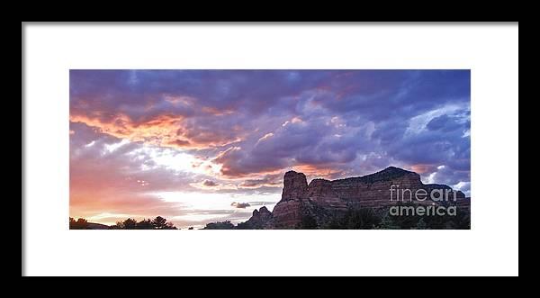 Sedona Arizona Framed Print featuring the photograph Sedona Arizona Sunset by Gregory Dyer