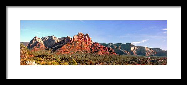 Rocky Hill Framed Print featuring the photograph Sedona Rocky Cathedral by Duane McCullough