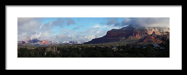 Landscape Framed Print featuring the photograph Sedona05 by James Zedaker