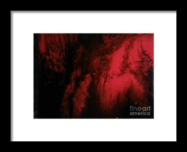 Abstract Framed Print featuring the painting Seduction by Jacob Bucy