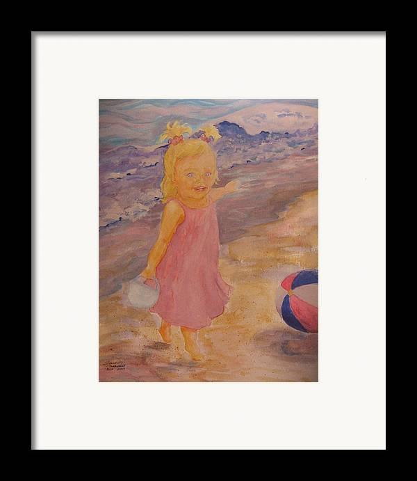Sea Framed Print featuring the painting See by Sharon Casavant