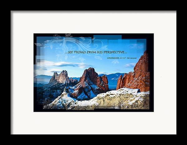 Snow Framed Print featuring the photograph See Things From His Perspective by Bruce Hamel