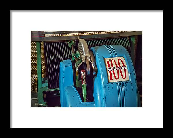 2d Framed Print featuring the photograph Seeburg Select-o-matic Jukebox by Brian Wallace